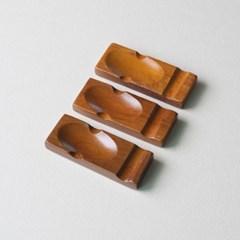 롬우드 로즈원목 나무 수저받침 퐁당_(1928741)