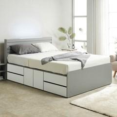 노뎀 LED 높은 2단 도어중앙 침대Q+독립 매트리스