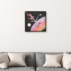 월데코 무소음 벽시계(우주비행)
