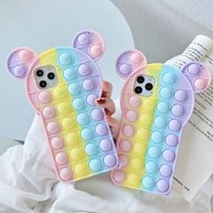 하푼 아이폰6 6S 테디베어 푸시팝 팝잇 실리콘 케이스