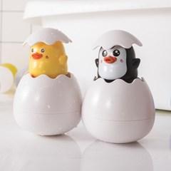 [1+1] 에그팝 유아 목욕놀이 물놀이 샤워 장난감 물총 펭귄+오리