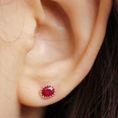 14K 루비 귀걸이