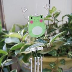 스테인드글라스 스타일 개구리 도어벨 풍경