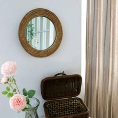 라탄 벽걸이 거울
