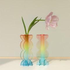 [studio riposo] 아크릴 화병 rounded SUMMER vase