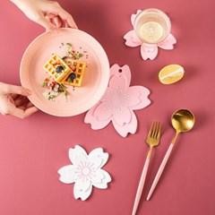 벚꽃 아이싱 실리콘 코스터 냄비 받침