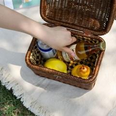 라탄 피크닉 바구니 가방