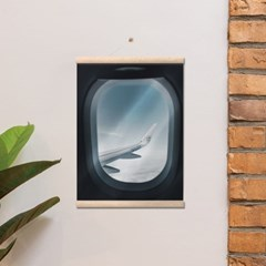 행잉우드프레임 캔버스포스터-Airplane Window 4종
