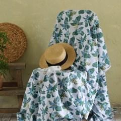 [Fabric] 하와이안 플라워 오션 블루 코튼