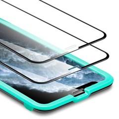 ESR 아이폰11 Pro Max 5X 풀커버 강화유리 2팩 (가이드 포함)