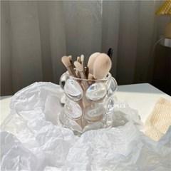 블링 유리 다용도 연필 브러쉬 꽂이 인테리어 화장품 정리 소품