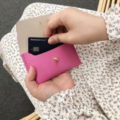 [가죽공예DIY키트] A-5 천연 양면가죽 카드지갑 만들기 30세트