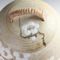 모래분청 백매화 쌀독 20kg 소금단지 현관 소금항아리