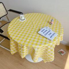 써니 빈티지 체크 테이블보 식탁보 홈카페