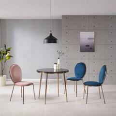 푹신한 1인용 네일샵 인테리어 의자 (4colors)