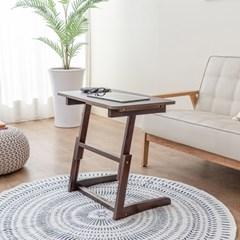 [리앳홈] 보그 올인원 원목 서랍 사이드 테이블 600 입식/좌식 2컬러