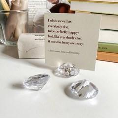다이아몬드 명함 홀더 메모 엽서 꽂이