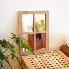 우드 창문 스탠드 벽 걸이 거울 c