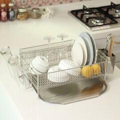 스텐 식기건조대 1단 올 304재질 설거지정리대