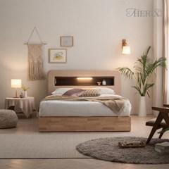 더릭스홈 마르스 LED조명+콘센트 침대프레임 퀸(Q)
