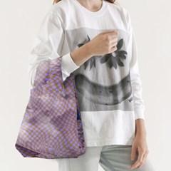 [바쿠백] 소형 베이비 에코백 장바구니 Lavender Trippy_(6518993)