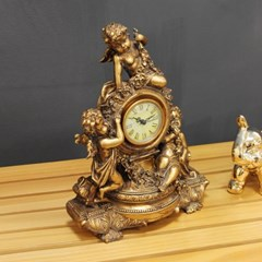 (kkjj159)황금 탁상 시계 (빈티지)_(1729818)