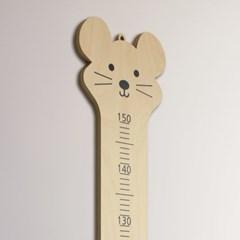생쥐 원목 키재기자