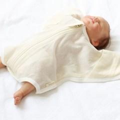 [메르베] 신생아 아기 베이직 썸머 달잠 바디슈트(크림)_(1661643)