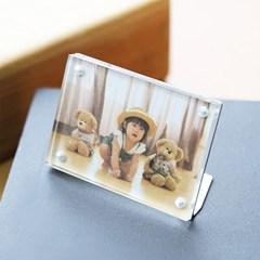 투명 아크릴 미니 자석 액자 50x70 55x80 mm