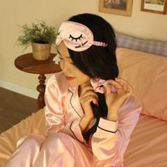 핑키 핑크 슬립 세트 (안대+곱창밴드)