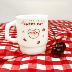 MILK GLASS CUP