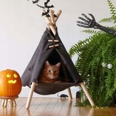 고양이 숨숨집 캣타워 애견 애묘 인디언하우스