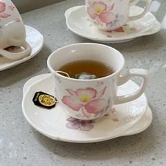 일본 도자기 아리타 400주년 한정판 벚꽃엔딩 1인조 찻잔 커피잔세트