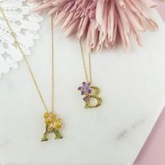 [ 올리아 ] 유럽 패션피플이 사랑하는 올리아 알파벳 목걸이 B