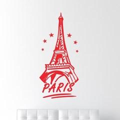 paris star 파리 감성 도시 에펠탑 일러스트 인테리어 스티커