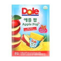 Dole 돌 얼려먹는 아이스팝 애플 팝 [496ml(62mlx8개입)]