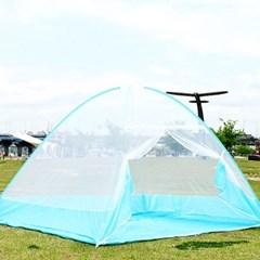 원터치 간편설치 모기장 텐트 소형 1~2인용 방충망 [200*120*140]