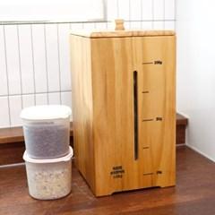 심플 원목 투명창 쌀통 보관함 10kg