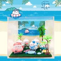 몰랑이피규어진열장 몰랑이의 여름휴가 장식장세트