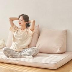 [유즈] 플레인 삼각 등쿠션 소형 3컬러 등받이 침대헤드쿠션