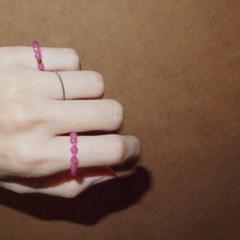 pink_r (2type) 핑크마노 원석반지
