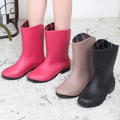 kami et muse Loose fit middle rain boots_KM21s310