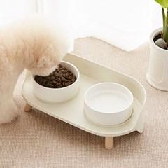 강아지 고양이 애견 펫톤 더블 다이닝 식기 (2type)