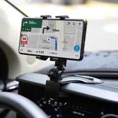 차량용 계기판 360도회전 각도조절 휴대폰 거치대 [주차번호판내장]