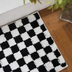 발매트 블랙 체스