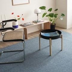 모듈 스타일 먼지없는 거실러그 카펫 방바닥매트(블루100x140)