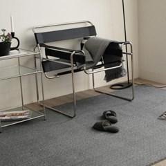 모듈 스타일 먼지없는 거실러그 카펫 방바닥매트(그레이160x230)