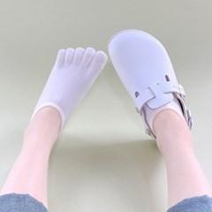 여성 심플 발가락 페이크삭스 덧신 양말 5켤레