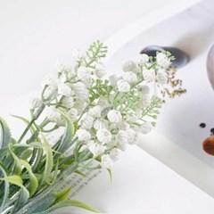 Flower 은방울 부쉬 화이트 34x11cm CH1705866