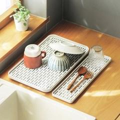 물빠짐 식기 설거지 컵 접시 정리대 건조대 (중형)